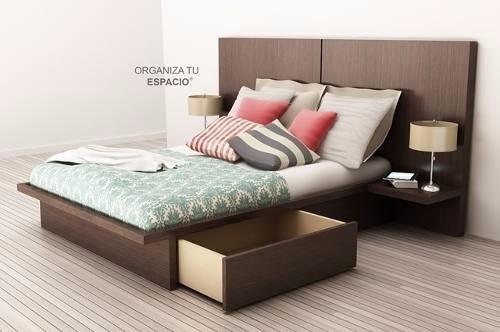 Increíble Cama Completa De Almacenamiento De Tamaño Con Muebles De ...