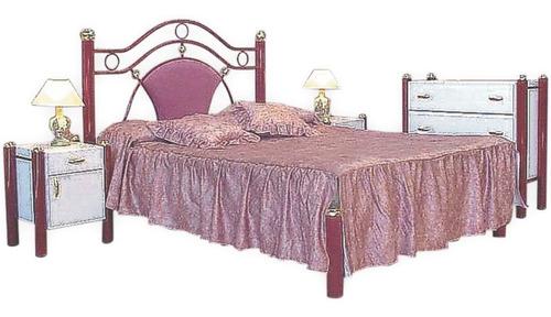 cama 2 plazas tapizada de 1.40 sin colchon art (1105)