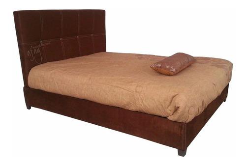 cama afag tela base y cabecera d recamara sin colchon matrim
