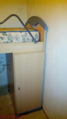 cama alta 1 plaza con escritorio