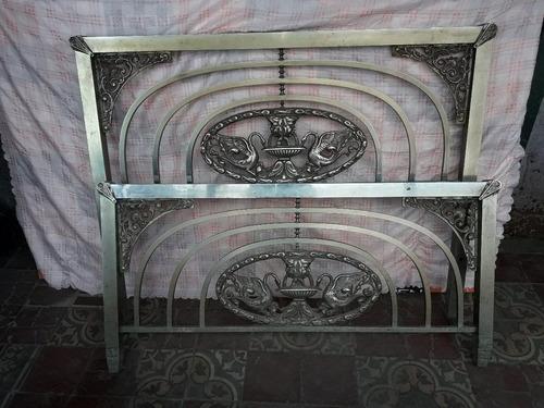 cama antigua de bronce 2 plazas