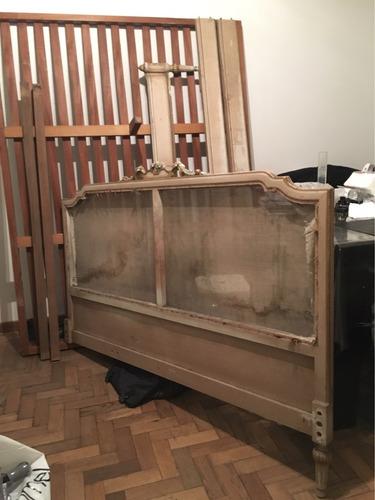 cama antigua estilo inglés no luis xv unica !!! liquido !!!