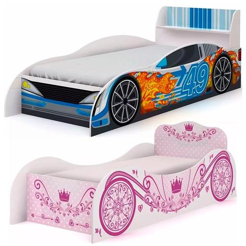 cama auto infantil dormitorio de niña o varon