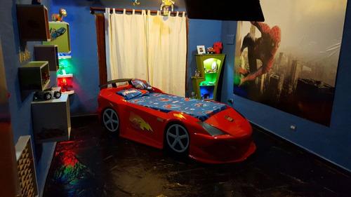 cama auto para niños. autos de carreras.decoracion infantil.