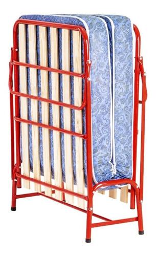 cama auxiliar 1 plaza aimaretti caño reforzado color negro incluye colchon