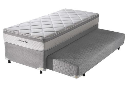 cama auxiliar con colchon  90x190x26 ortopedico   aven. clp