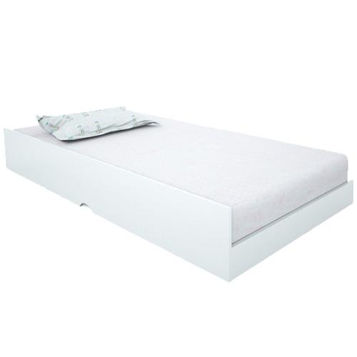 cama auxiliar premium branca - conquista