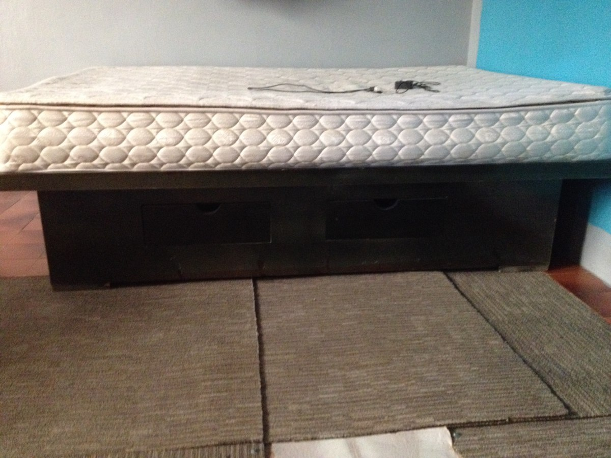 Cama base matrimonial de madera 2 en mercado libre for Base cama matrimonial