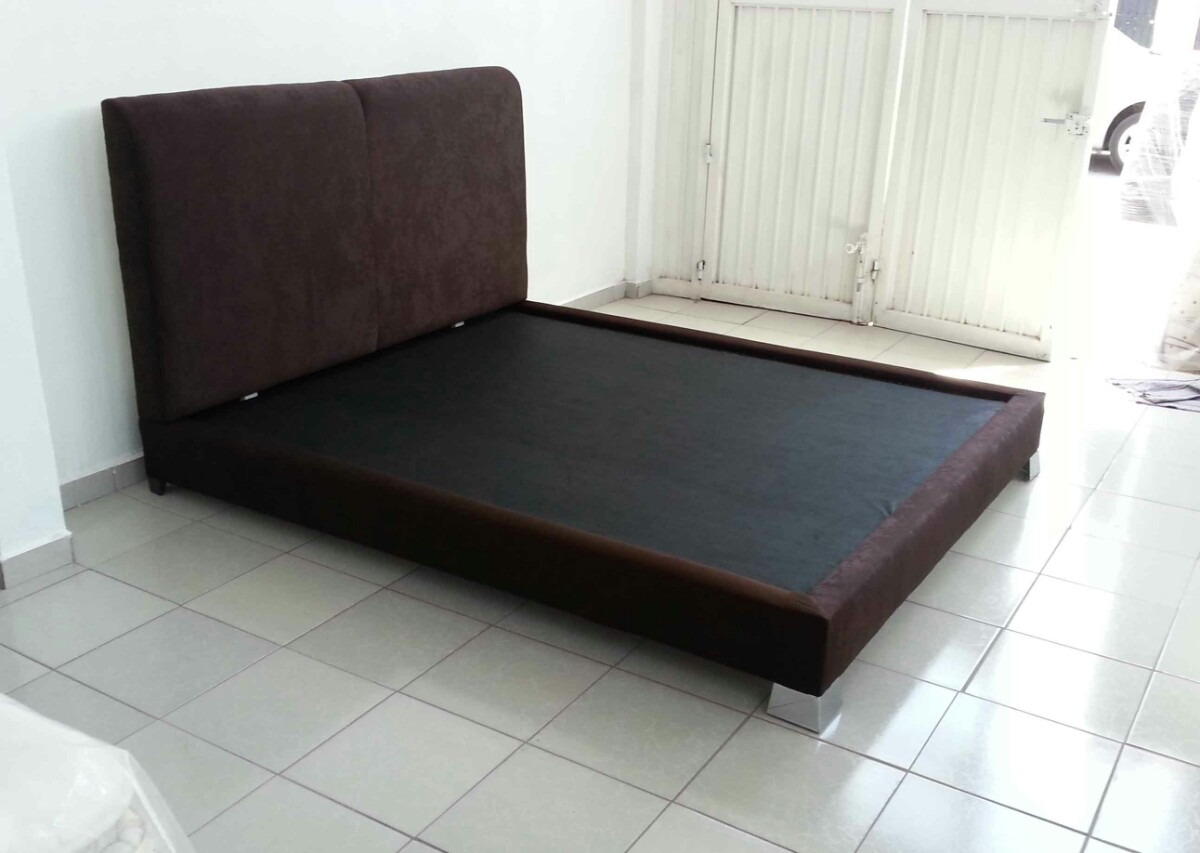 cama queen size base cabecera rec mara moderna chocolate