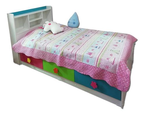 cama baul infantil 3 cajones niño modelo julieta