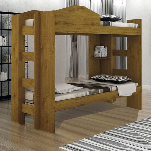 cama beliche capri cedro rústico sallêto