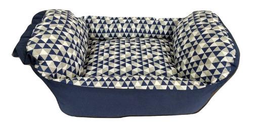 cama berço p/cachorro gato caminha de alta qualidade e conforto petshop caes e gatos tamanho m azul