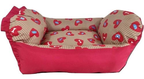 cama berço p/cachorro gato caminha de alta qualidade e conforto petshop caes e gatos tamanho m vermelha