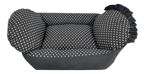 cama berço p/cachorro gato caminha de alta qualidade e conforto petshop caes e gatos tamanho p preta