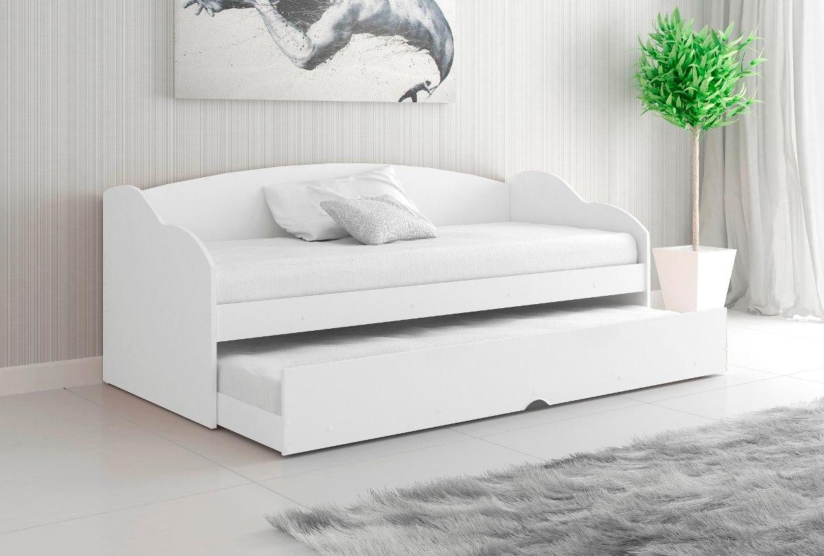 Promo o cama bicama solteiro estilo sofa s colch o r - Camas tipo sofa ...