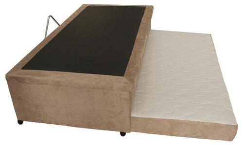 cama box bau 3 em 1 120x203 com aux em espumas sued cinza