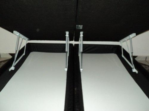 cama box baú queen bi-partido 30cms profundidade aprox.