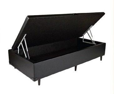 cama box bau solteirão 0,96 x 2,03 reforçada sem colchão
