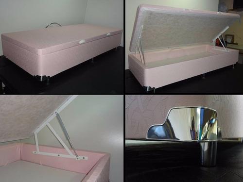 cama box baú solteiro 30 cms profundidade aprox. blindado