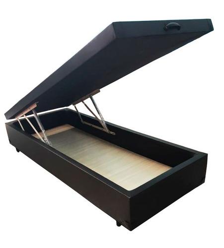 cama box baú solteiro c\ 35cm ou 40cm de profundidade - lx