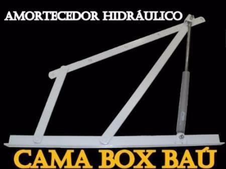 cama box bau solteirão + colchão molas ensacadas