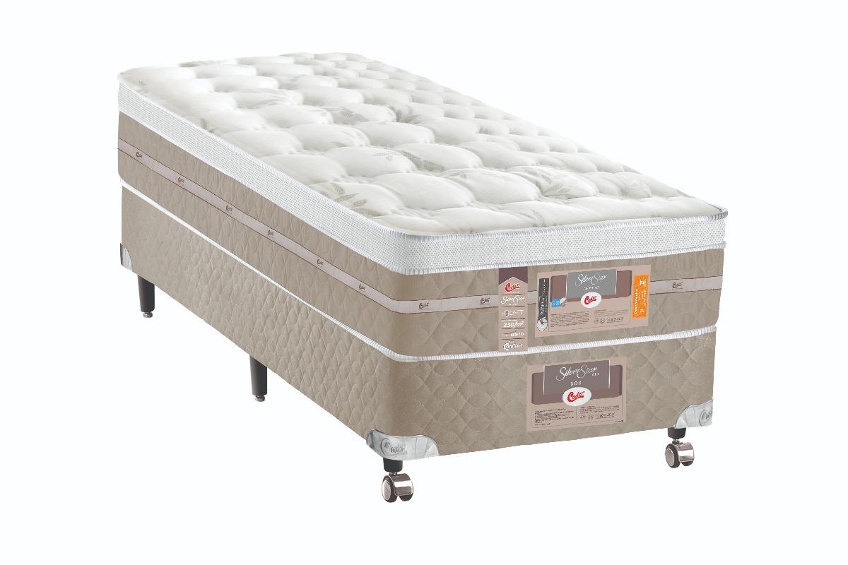 6481e5925 cama box + colchão solteiro castor silver star pocket air. Carregando zoom.