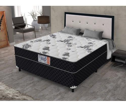 cama box conjugado gazin supreme casal espuma d-28 138x188cm