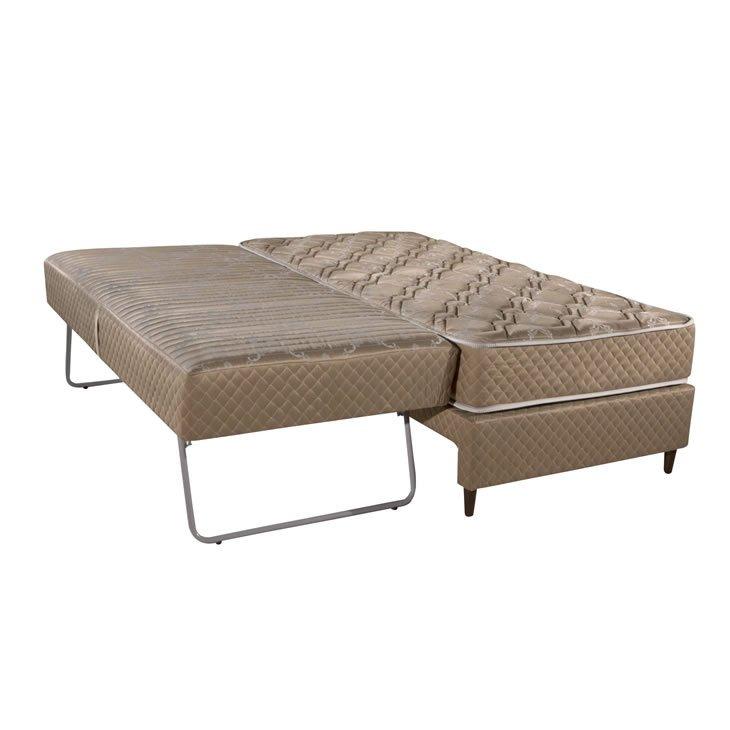 Cama box solteiro e cama auxiliar herval 3 em 1 molas for Sofa que vira beliche onde comprar