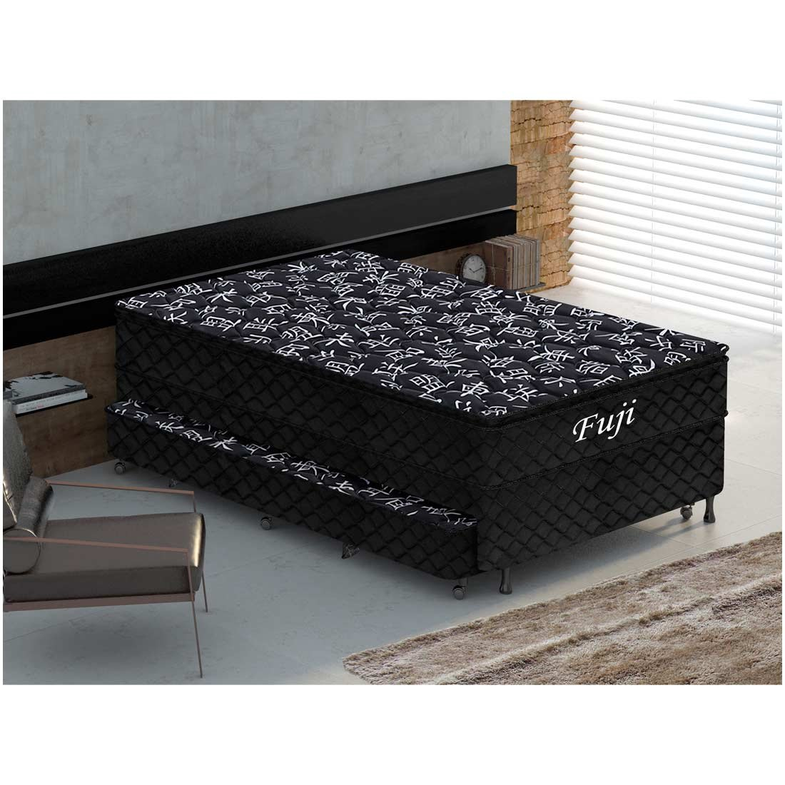 b48df6cafd cama box solteiro gazin + colchão fuji com cama auxiliar. Carregando zoom.