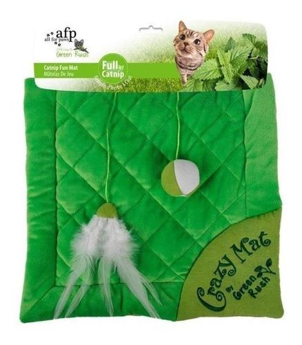 cama brinquedo tapete p/ gato crazy cat mat c/ catnip afp
