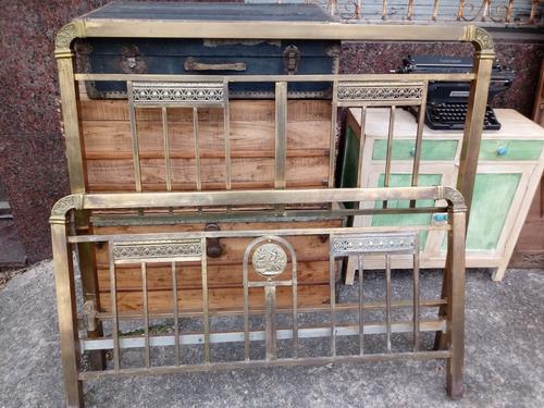 cama bronce antigua 2 plazas 140