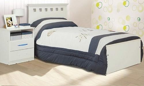 cama c/ respaldo 1 plaza brillante serie 5 juvenil mosconi