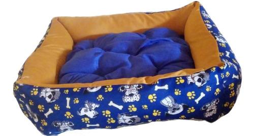 cama cachorro gato pet porte pequeno médio com almofada luxo
