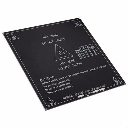 cama caliente mk3 aluminio 20x20 impresora 3d 12/24v