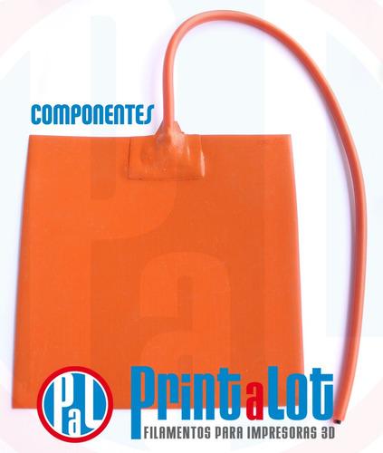 cama caliente silicona 20x20 impresora 3d 12v :: printalot