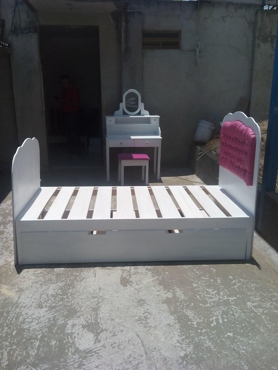 Cama infantil estilo princesa cama individual cama for Cama nido individual