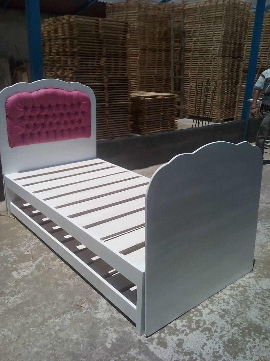 Cama infantil estilo princesa cama individual cama nido 5 en mercado libre - Fabricar cama nido ...