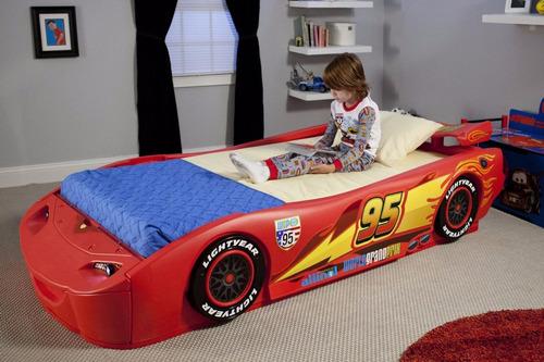 cama camita de carro rayo mcqueen individual