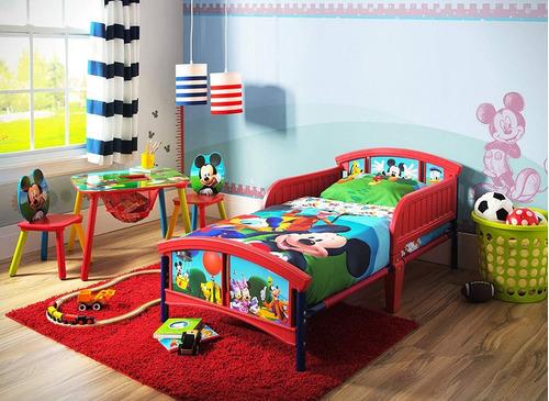cama camita infantil delta mickey mouse niños + colchon