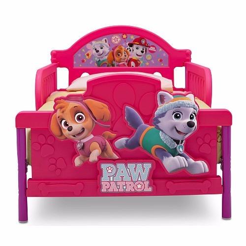 Cama camita infantil paw patrol rosa 3d nina 2 for Cama infantil nina