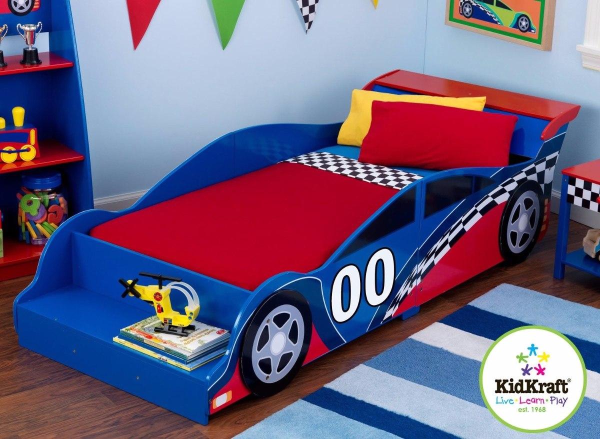 cama camita recamara para nios kidkraft carro carreras