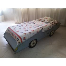 Cama Carro - Para Niños O Adolescentes De Madera Pino