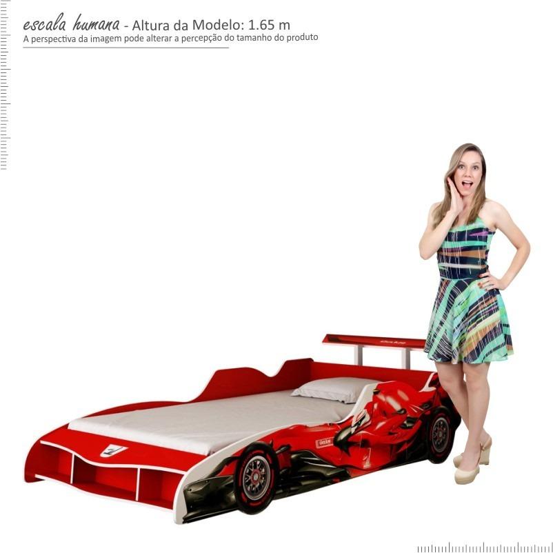 cama carro f1 solteiro p meninos infantil formula 1 vermelha. Carregando  zoom. d8a8da805bea8