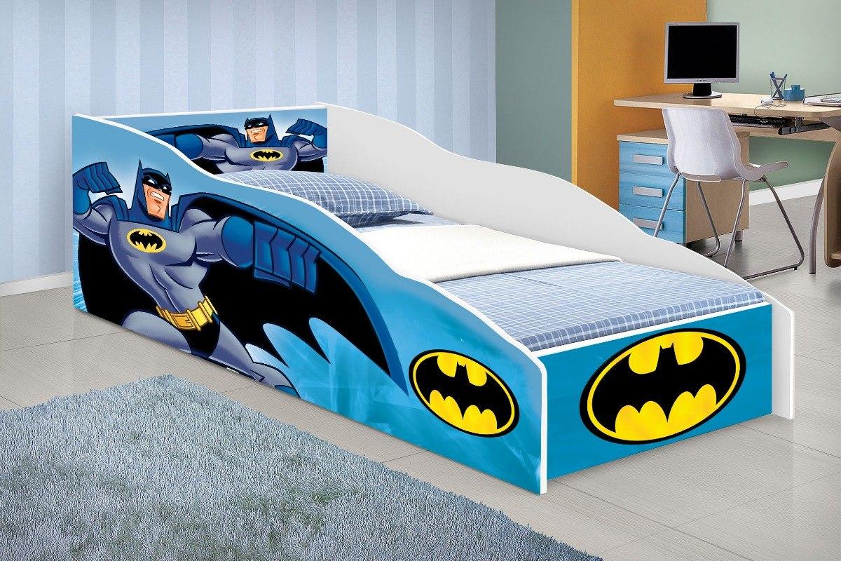e861a9f96e cama carro solteiro batman azul com colchão. Carregando zoom.