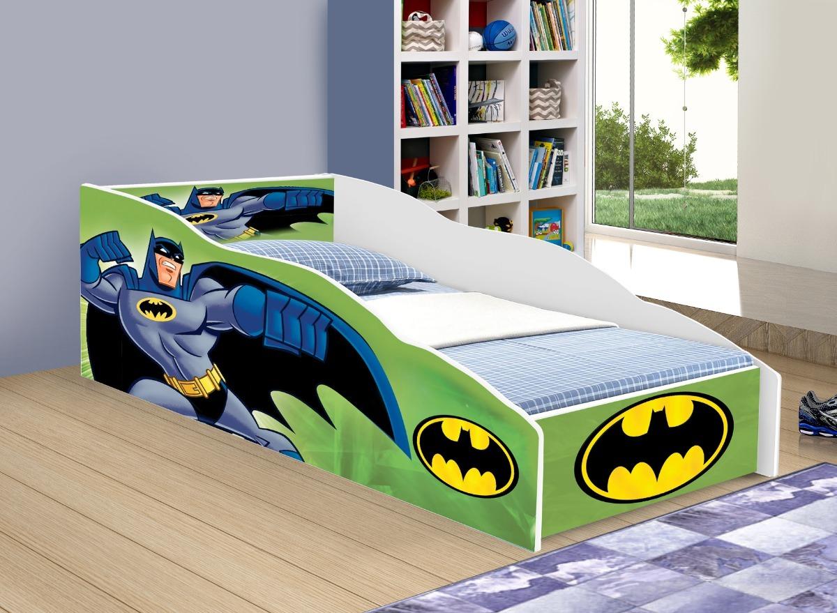 149313c117 cama carro solteiro batman verde com colchão adesivado. Carregando zoom.
