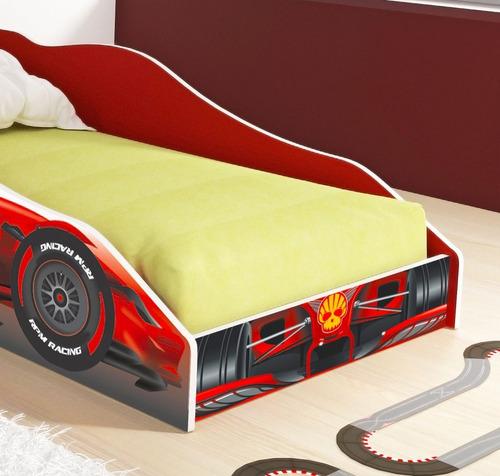 Cama Carro Solteiro F1 Rpm - Fórmula F1 - Vermelho - R  299 81d1e7fdabb98