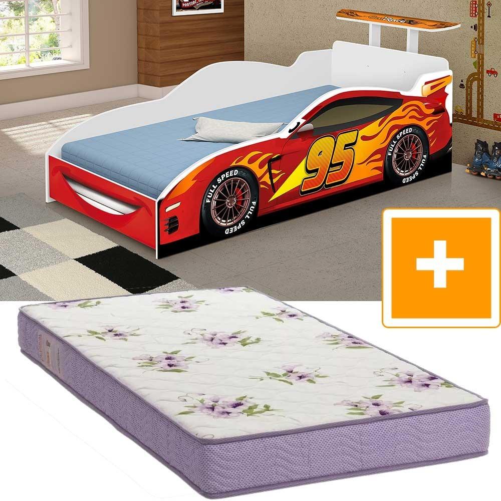 3e1577a5a0 cama carros mcqueen infantil com colchao ortobom juvenil. Carregando zoom.