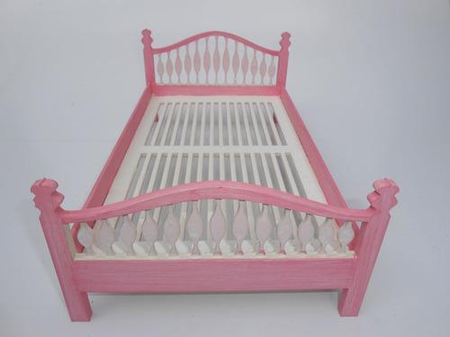 cama casal barbie 1:12 - kit c/ 10  p/monta dollhouse móveis