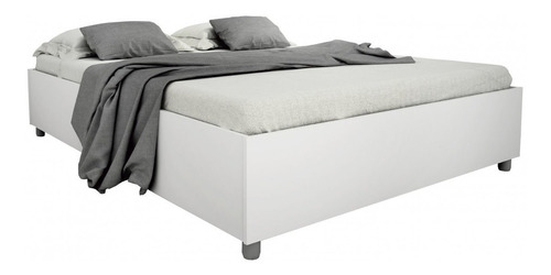 cama casal mônaco tcil móveis branco ghwt