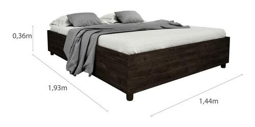 cama casal mônaco tcil móveis cumaru rustic da
